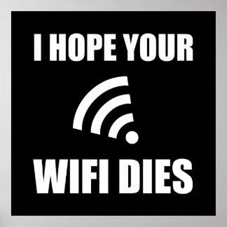 Poster Espérez vos matrices de Wifi