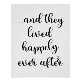 Poster … Et eux a vécu heureusement pour toujours
