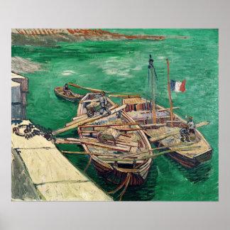 Poster Étape d'atterrissage de Vincent van Gogh   avec