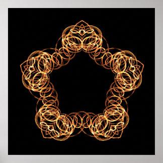 Poster Étoile de baguette magique du feu - affiche