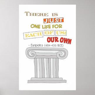 Poster Euripide la juste une vie