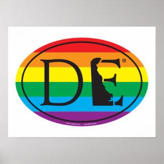 Poster Euro de fierté d'état de LGBT : De Delaware