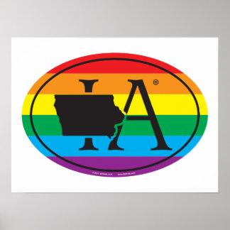 Poster Euro de fierté d'état de LGBT : IA Iowa