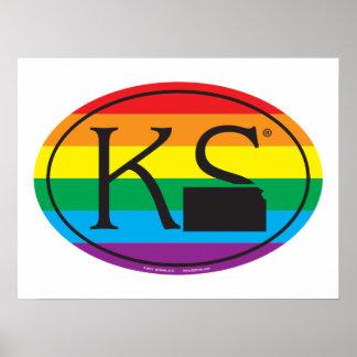 Poster Euro de fierté d'état de LGBT : KS le Kansas