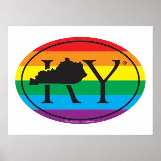 Poster Euro de fierté d'état de LGBT : Les KY Kentucky
