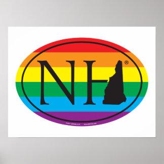 Poster Euro de fierté d'état de LGBT : NH New Hampshire