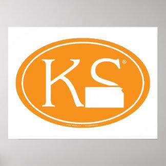 Poster Euro de fierté d'état : KS le Kansas