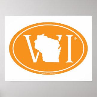 Poster Euro de fierté d'état : WI le Wisconsin
