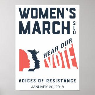 Poster Événement de mars SLO janvier des femmes