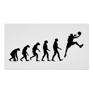 Poster Évolution de basket-ball