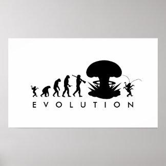 Poster Évolution de diagramme drôle d'évolution de