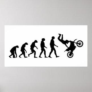 Poster Évolution de motocross