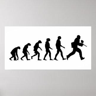 Poster Évolution de Paintball