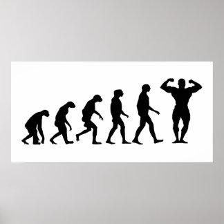 Poster Évolution du culturisme