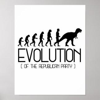 Poster Évolution du Parti Républicain - - la Pro-Science