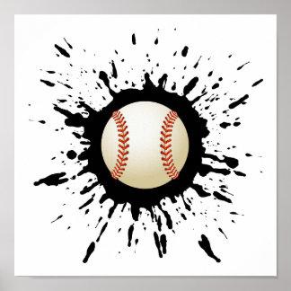 Poster Explosion de base-ball