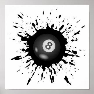 Poster Explosion de billard