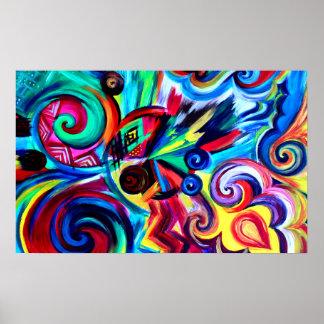 Poster Explosion de couleur