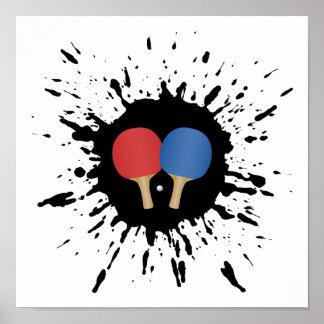 Poster Explosion de ping-pong