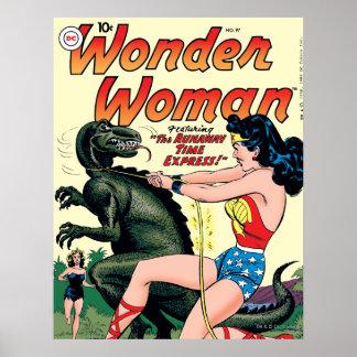 Poster Express de temps d'emballement de femme de