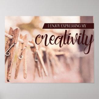 Poster Expression de ma créativité