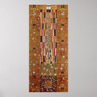 Poster Extrémité de mur, frise de Stoclet, Klimt, motif