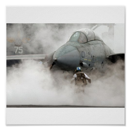 Poster F-14 in smoke