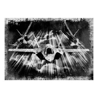 Poster F-35 affiche de la foudre II