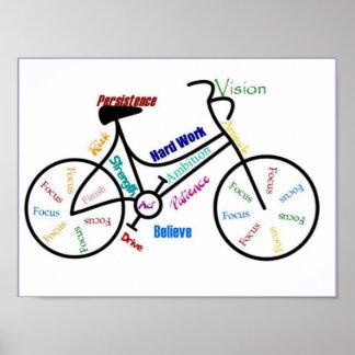 Poster Faire du vélo de motivation de sport de cycle de