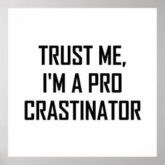 Poster Faites- confiancemoi pro Procrastinator
