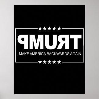 Poster Faites le signe d'Anti-Atout de l'Amérique vers