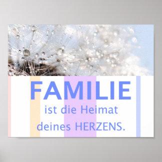 Poster Famille coeur amour - belles maximes de citations