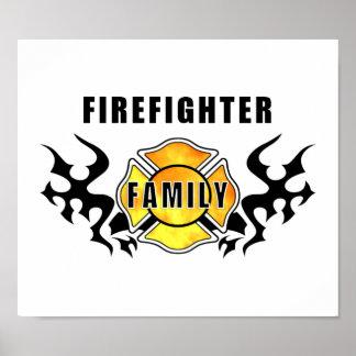 Poster Famille de sapeur-pompier