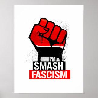 Poster Fascisme de fracas -