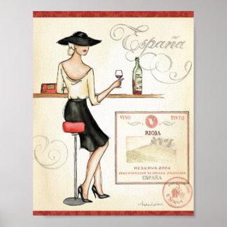 Poster Fashionista de vin