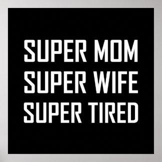 Poster Fatigué superbe d'épouse superbe superbe de maman