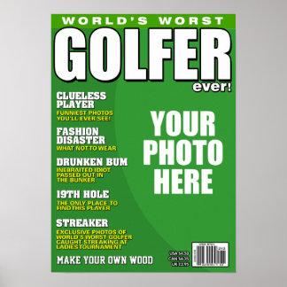 Poster Fausse couverture de magazine de golfeur