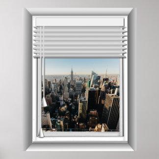 Poster fausse vue de fenêtre de 3D New York City