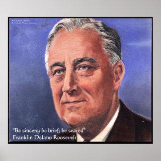"""Poster FDR (Roosevelt) """"soit de brèves"""" affiches de"""