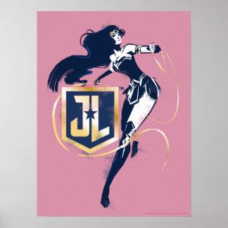 Poster Femme de merveille de la ligue de justice | et art