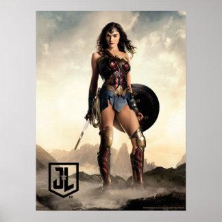 Poster Femme de merveille de la ligue de justice | sur le