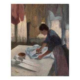 Poster Femme d'Edgar Degas | repassant, c.1876-87
