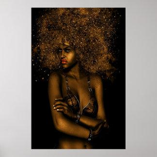 Poster Femme d'or d'Afro