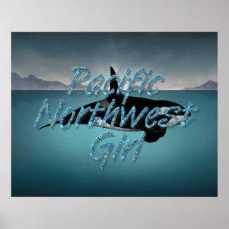 Poster Femme du nord-ouest Pacifique de PIÈCE EN T