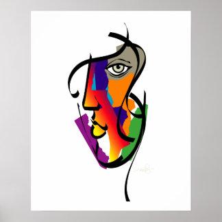 Poster Femme multiculturelle