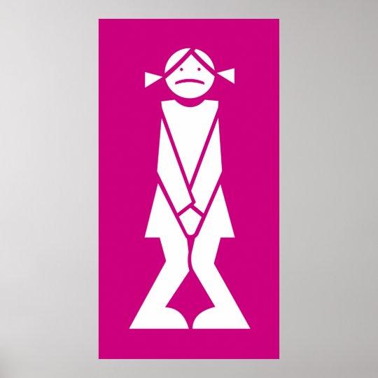 Poster Femme pour toilettes