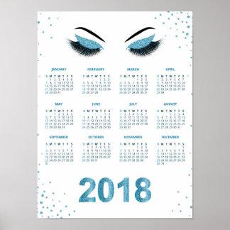 Poster Femmes avec le calendrier scintillant du