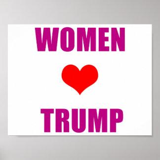 Poster Femmes d'atout d'amour de femmes pour l'atout