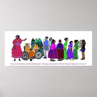 Poster Femmes de l'AFFICHE du monde - 2