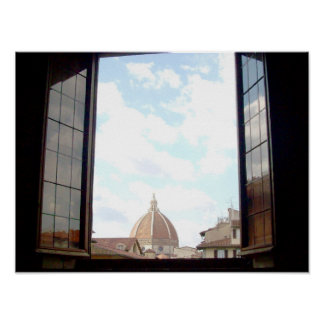 Poster Fenêtre à l'affiche de Florence